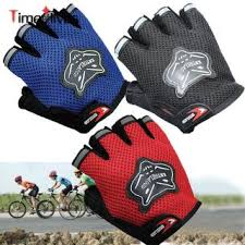 [TOYFULCABIN] <b>1 Pair Cycling Gloves</b> Half Finger Shockproof ...