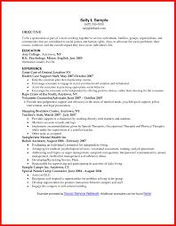 Social Work Resume Sample Apa Example