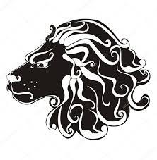 Lev Tetování Astrologie Znamení Vektor Znamení Lev Stock Vektor