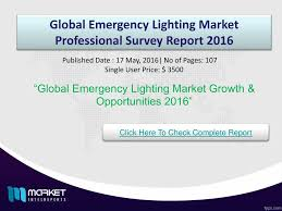 Global Lighting Market 2016 Ppt Global Emergency Lighting Market Opportunities