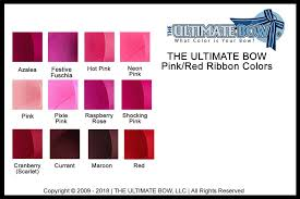 Color Charts Cheer Bow Colors Grosgrain Ribbons Colors