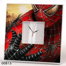 spiderman gift mirror clock
