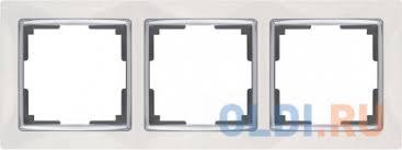 <b>Рамка</b> Snabb на 3 поста белая WL03-Frame-03-white ...