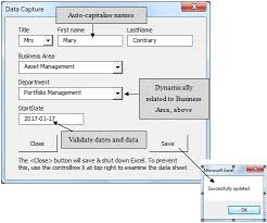 excel asset management how to control data capture with a vba form in excel data recovery