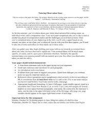 tutoring observation paper