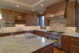 cream color kitchen counter with light wood