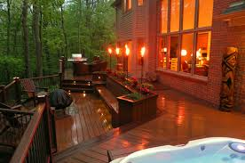 outdoor lighting for decks. Deck Step Lighting And Patio Torch Lights For Outdoor Ideas: Full Size Decks T