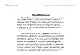 the fresh prince of bel air gcse english marked by teachers com document image preview