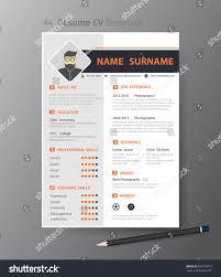 Clean Modern Design Template Resume Cvvector Stock Vector