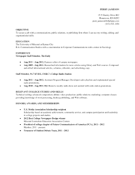 Resume Objectives For College Students Resume Objective Examples