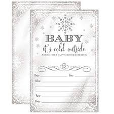 Snowflake Baby Shower Invitations Amazon Com Baby Its Cold Outside Invite Snowflake Baby Shower