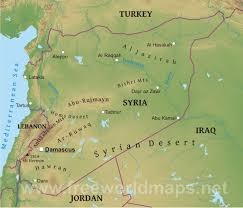 syrian desert physical map. Perfect Syrian Syria Geographical Features Intended Syrian Desert Physical Map Free World Maps