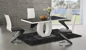 ga angel black glass white gloss 160 cm designer dining set 4 6 z swish chairs matt dining table