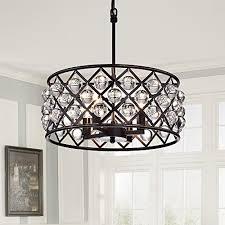 elegant bronze crystal chandelier hampton bay 5 light oil rubbed for