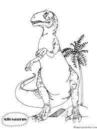 Dinosaur T Rex Coloring Page Print