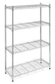 storage rack organizer 4 tier steel wire shelving unit