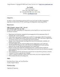 Resume And Cover Letter. Resume Examples Objective - Sample Resume ...