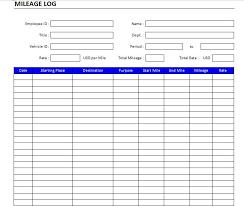 free mileage log template 04 printable