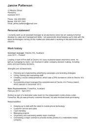 Sample Resume New Zealand Style Resume Template