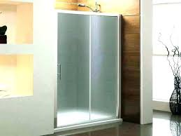 frosted glass shower door doors tinted cleaning blue tub