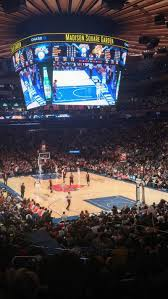 Madison Square Garden Section 111 Row 18 Seat 1 New