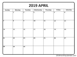 Download April 2020 Calendar Blank Editable