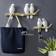 800 x 800 jpeg 80 кб. Unique Wall Hooks Bird Resin White Blue Decorative Key Coat Modern Bag Hanger Handbag Holder Wall Accessories
