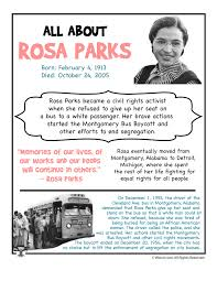 rosa parks fact sheet black america rosa parks  unc athlete essay on rosa parks gets a minus business insider