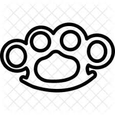 Brass knuckles california vinyl sticker metal motorcycle 1%er club socal norcal. Brass Knuckles Icon Of Line Style Available In Svg Png Eps Ai Icon Fonts
