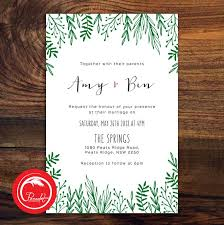 leafy green wedding invitation set ~ pocadot invitations Wedding Invitations Newcastle Nsw leafy green wedding invitation set wedding stationery newcastle nsw