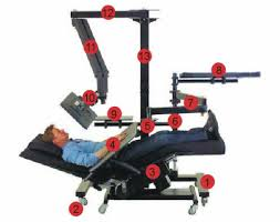 chair mount keyboard tray. zero gravity chair (not included) 4. padded, wrap-around keyboard tray 5. adjustable tilt mechanism 6. motorized height column mount