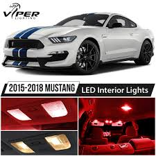 2015 Mustang Map Light Replacement Details About 2015 2018 Ford Mustang Red Interior Led Lights Package Kit