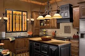 Antique Pendant Lamp With Wood Range Hoods For Traditional Kitchen Design  Ideas