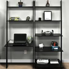 office furniture shelves. leaning shelf bookcase with computer desk office furniture home in wall shelves u2013 v
