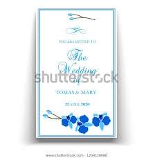 Event Invitations Templates Free Wedding Marriage Event Invitation Template Blue Stock Vector