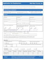Walmart Application Preview Pdf Walmart Application For Employment 2
