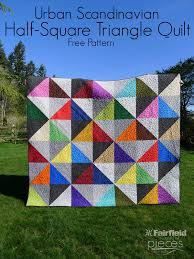 Urban Scandinavian Modern Half-Square Triangle Quilt Pattern ... & Urban Scandinavian HST Quilt ... Adamdwight.com