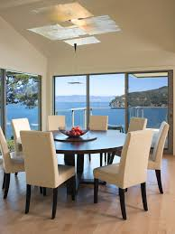 round hall table dining room contemporary with architect and designer balcony