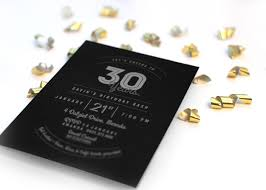 modern typographical 30th birthday invitation modern typographical 30th birthday invitation close up 1