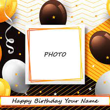 birthday wishes photo frame with name edit
