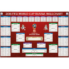 2018 Fifa World Cup Russia Poster Wall Chart