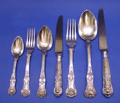 single cutlery set. Simple Single William IV Silver 84Piece Single Struck Queens Pattern Cutlery Set  Assayed In London 183233 By Lewis Samuel Of Liverpool The Knives Are Modern In Set L
