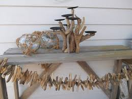 Nautical Driftwood Candelabra. Driftwood Decor.7 Candle Holder. Nautical  Decor. Wedding. Beach Cottage For Coastal Living By Searchnrescue2