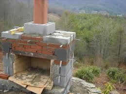 Unfinished Small Outdoor Fireplace Plans In The Forest Area Used Brick Wall  Design Ideas