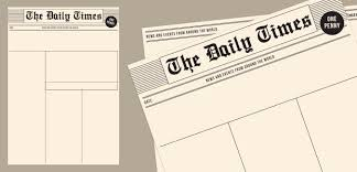 The Times Newspaper Template Old Newspaper Template Paperzip