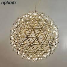 stainless steel chandeliers stainless steel firework pendant light ball firework lights modern creative living room lighting