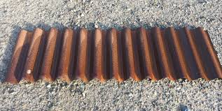 7 8 deep rusted weathering steel roof or wall panel