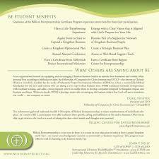 Biblical Entrepreneurship Certificate Program Pdf