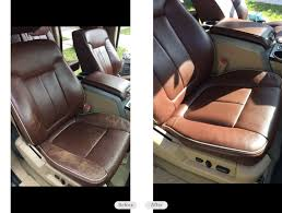 ford f 150 king ranch leather seats re dyed and red in lithia florida
