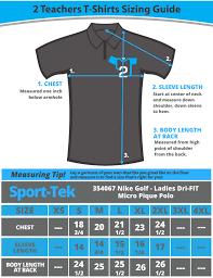 Nike Dri Fit Ladies Micro Pique Polo 354067 Sizing Guide 2